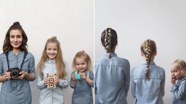 Mamá e hijas conquistan Instagram con armoniosas fotos