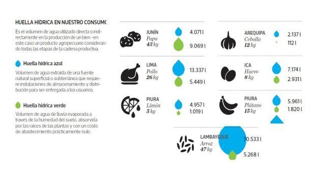 ¿Cuánta agua se usa para la producción de un un producto agropecuario? (Archivo: El Comercio)