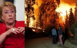 Bachelet: Los incendios en Chile son un desastre histórico