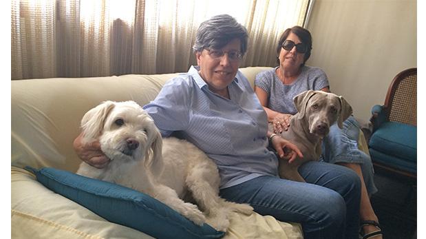 Liliana y Rosario Canessa junto a Lara y Ramona.