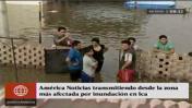Ica: familias afectadas por inundación tras caída de huaicos