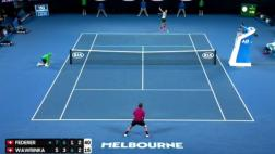 Roger Federer: el imperdible punto ante Wawrinka en Australia
