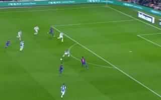 Barcelona: el pase sutil de Suárez en el gol de Denis [VIDEO]