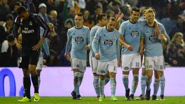 El Celta de Vigo mantuvo la ventaja obtenida en el Bernabéu y clasificó a la semi final de la Copa del Rey (Foto: AP)