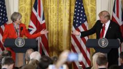Trump y May: Lo que dijeron sobre el Brexit, Rusia y la OTAN