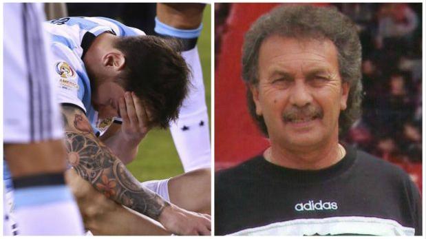La emotiva despedida de Lionel Messi a su primer entrenador en Newell's.