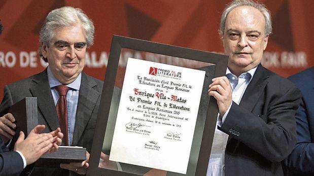 Guadalajara, 2015. Vila-Matas recibió el premio FIL de Literatura en Lenguas Romances.  (Foto: AFP)