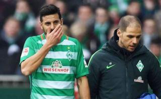 Claudio Pizarro: Bremen confirmó que sufrió problema muscular