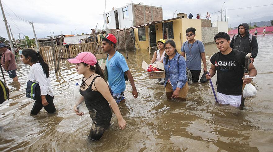 La Tinguiña y Los Molinos fueron los distritos más golpeados por las inundaciones (Foto: Rolly Reyna)