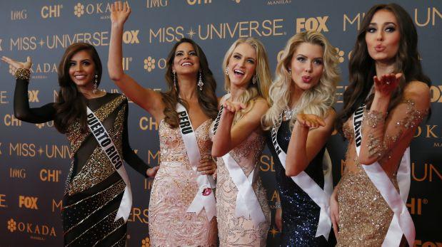 Algunas de las candidatas al Miss Universo 2016 en la alfombra roja. (Foto: AP)