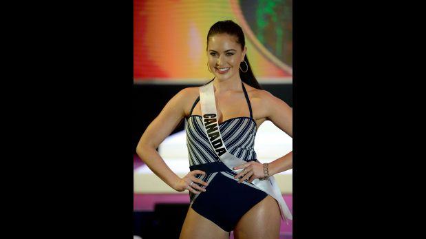 La Miss Canadá Siera Bearchell en traje de baño. (Foto: AFP)