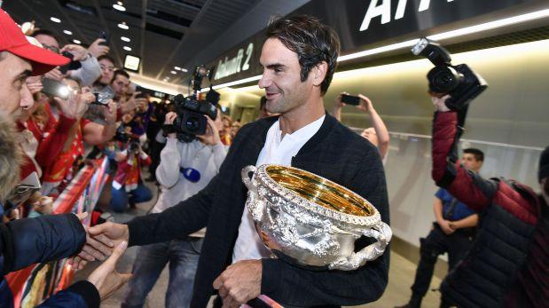Federer contó cómo celebró hasta el amanecer luego del título. (Foto: AFP)