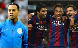 """Ronaldinho sobre la 'MSN': """"Prefiero el mío con Eto'o y Messi"""""""