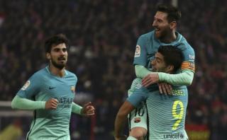 Barcelona venció 2-1 al Atlético en semis de Copa del Rey