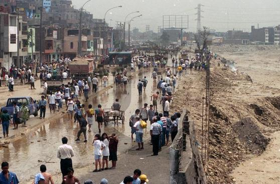 Huaycoloro y los estragos que causó en 1998