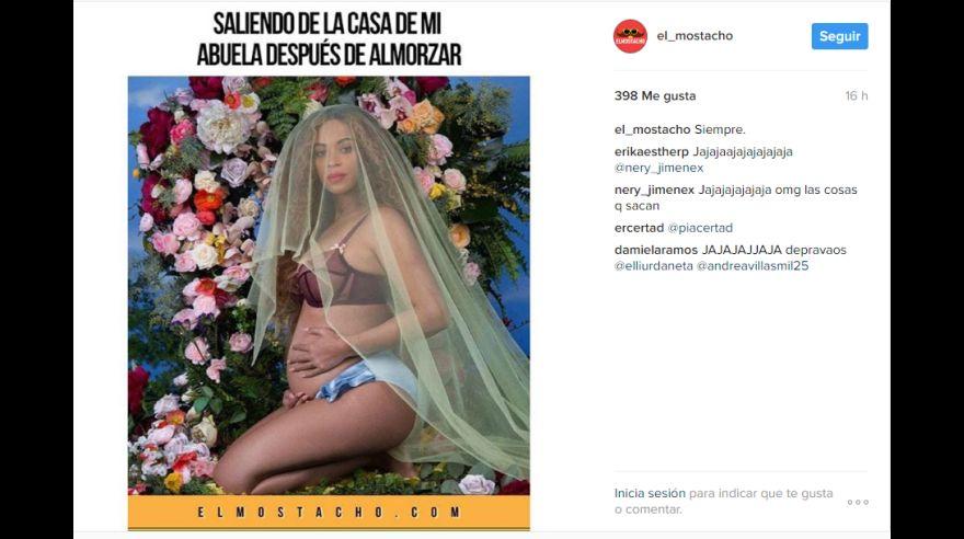 Instagram los memes que celebran el embarazo de Beyoncé