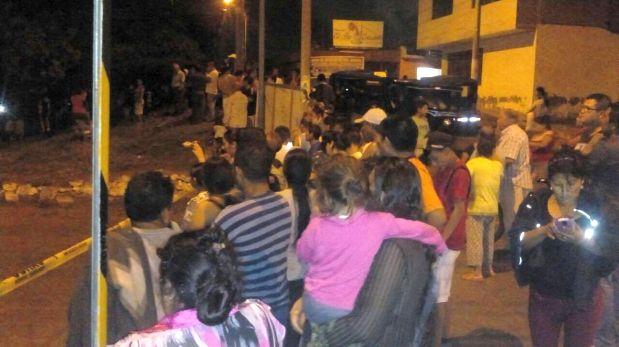 El deslizamiento afectó las calles de los barrios Solidex Alto, Bajo, Villa Hermosa, San Cristóbal, Vista Alegre y Villa Hermosa
