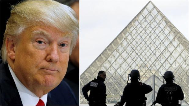 Un soldado abre fuego delante del Museo Louvre en París — CHILE