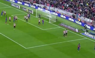 Lionel Messi y un gol de tiro libre que ni él esperaba [VIDEO]