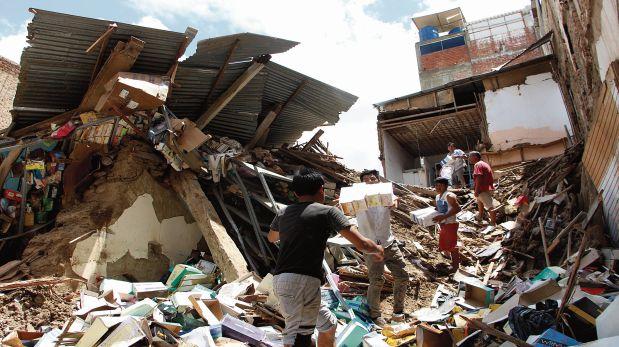El jueves llovió por 12 horas en Chiclayo. Así quedaron algunas viviendas tras soportar las precipitaciones. (Foto: Johnny Aurazo)