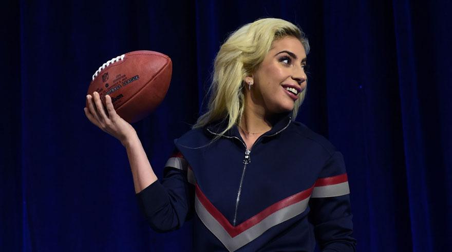 Lady Gaga durante la conferencia de prensa previa a su presentación en el medio tiempo del Super Bowl LI Pepsi. (Foto: AFP)