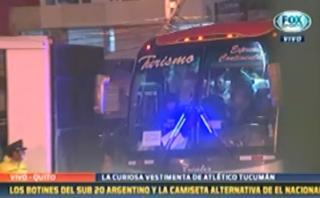 Atlético Tucumán: así llegó el equipo argentino al estadio