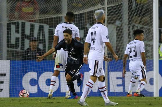 Colo Colo vs. Botafogo: el festejo brasileño en Santiago