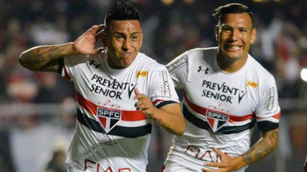 Christian Cueva: Sao Paulo vs. Motor Club hoy por Copa Brasil