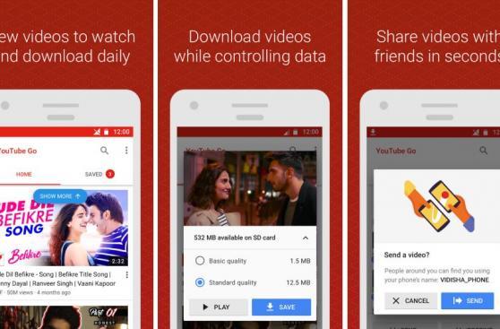YouTube Go permitirá a usuarios ver videos en modo 'offline'