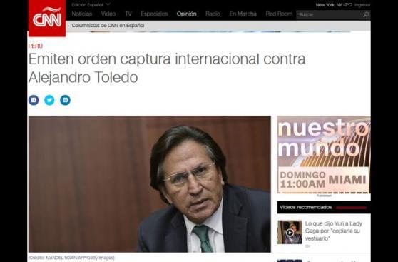 Medios internacionales reportan orden de prisión para Toledo