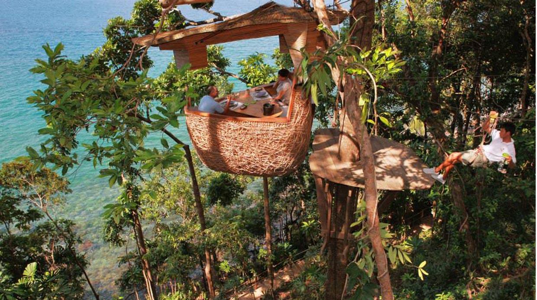 Una cena a cinco metros de altura en un árbol no es lo único que ofrece este original restaurante en Tailandia.(Foto: soneva.com)