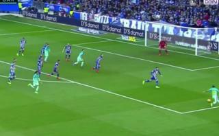 Luis Suárez, cazador del área: así marcó gol ante Alavés