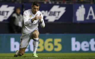 Cristiano Ronaldo anotó el primero para el Madrid de 'huacha'