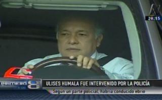 Ulises Humala habría conducido en presunto estado de ebriedad