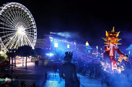 Un Trump gigante y Marine Le Pen adornan el Carnaval de Niza