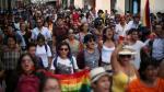 'Besatón contra la homofobia' se realizó en el Centro de Lima - Noticias de unión civil entre homosexuales