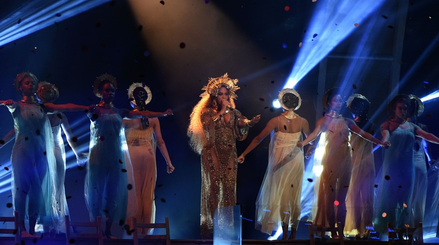 Beyonce en los Grammy 2017. (Foto: AFP)