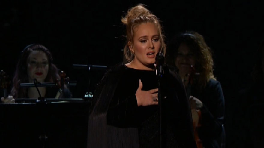 Adele cantó