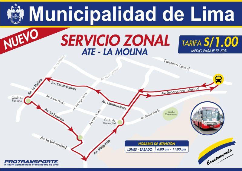 [Foto] Corredor Javier Prado: ruta 209 ya no llega a Av. Separadora