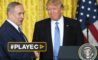 """Trump recibe a Netanyahu: """"Palestinos deben reconocer a Israel"""""""