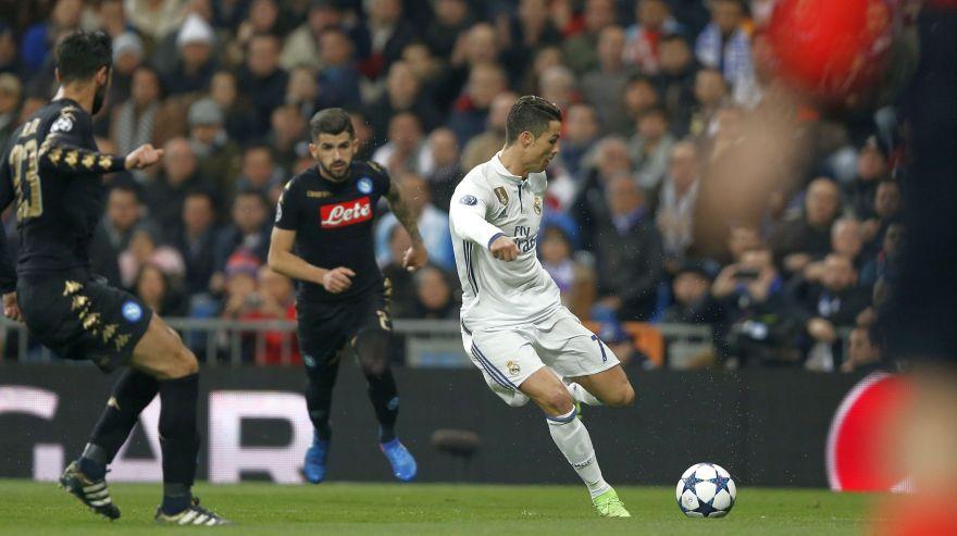 Cristiano no marcó pero destacó: su lucha y entrega ante Napoli
