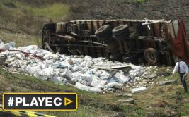 Paraguay: camión cayó con 30 toneladas de billetes venezolanos