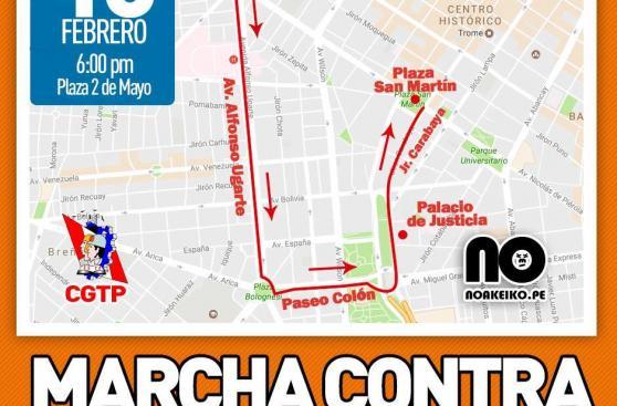 Hoy es la Marcha contra la Corrupción: conoce el recorrido