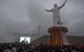 García rechaza que Cristo del Pacífico simbolice corrupción