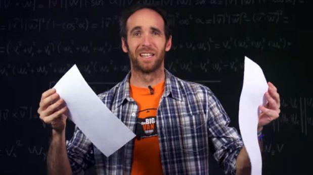 ¿Cuántas veces se puede doblar un papel por la mitad? [VIDEO]