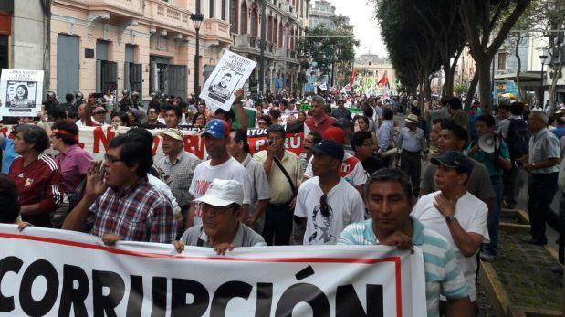 Centro de Lima: así se desarrolló Marcha Contra la Corrupción