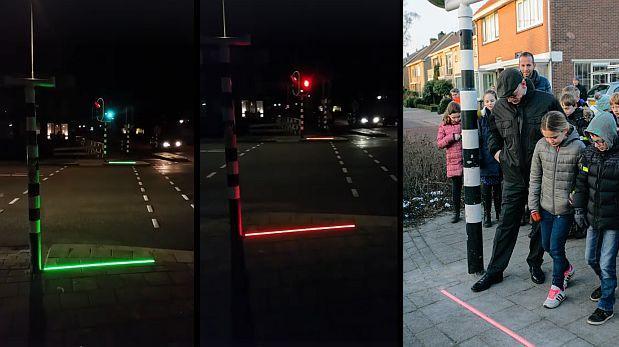 Instalan semáforos para quienes caminan mirando el celular