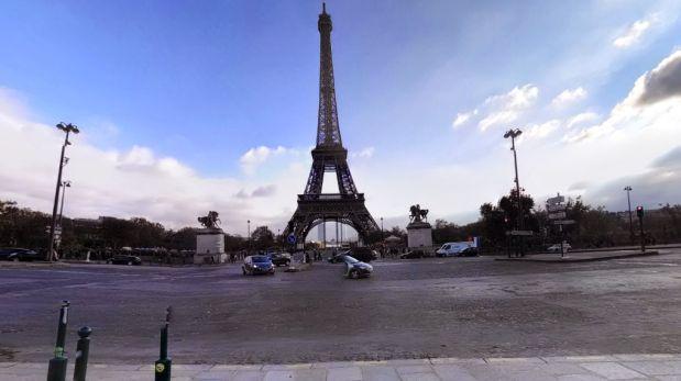 La impresionante vista de la torre Eiffel desde Google Maps