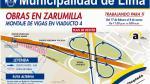 Municipalidad de Lima anuncia cierre parcial de Av. Zarumilla - Noticias de avenida alfonso ugarte