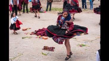 El carnaval de Chinchero: un combate de colores [FOTOS]